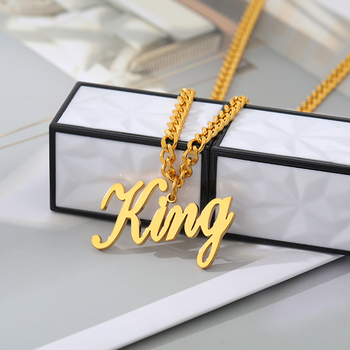 Custom Name Necklace For Women Personalized Jewelry Men  Gold Stainless Steel Long Chain Pendant Necklace Jewelry Birthday Gift bofee long vintage cross chain punk necklace pendant stainless steel choker charm metal male fashion jewelry gift for women men