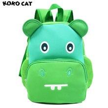 Купить с кэшбэком KOKOCAT Children 3D Cute Animal Design Backpack Toddler Kid Neoprene School Bags Kindergarten Cartoon Comfortable Bag