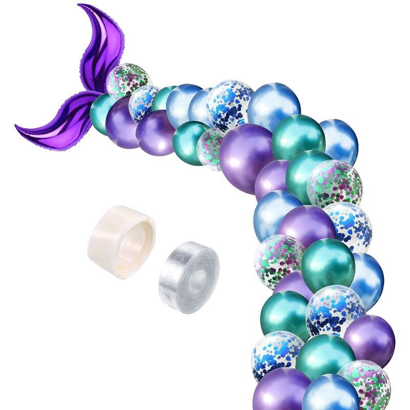 42 шт./компл. одеяло «хвост русалки» арка для воздушных шаров латексные шары для свадьбы детский день рождения украшения с рисунком «маленьк...