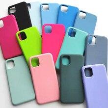 Оригинальный чехол из жидкого силикона для iPhone 12 11 pro Mini XS Max XR X, чехлы для iPhone 7 8 plus SE 2020 12 Pro с коробкой