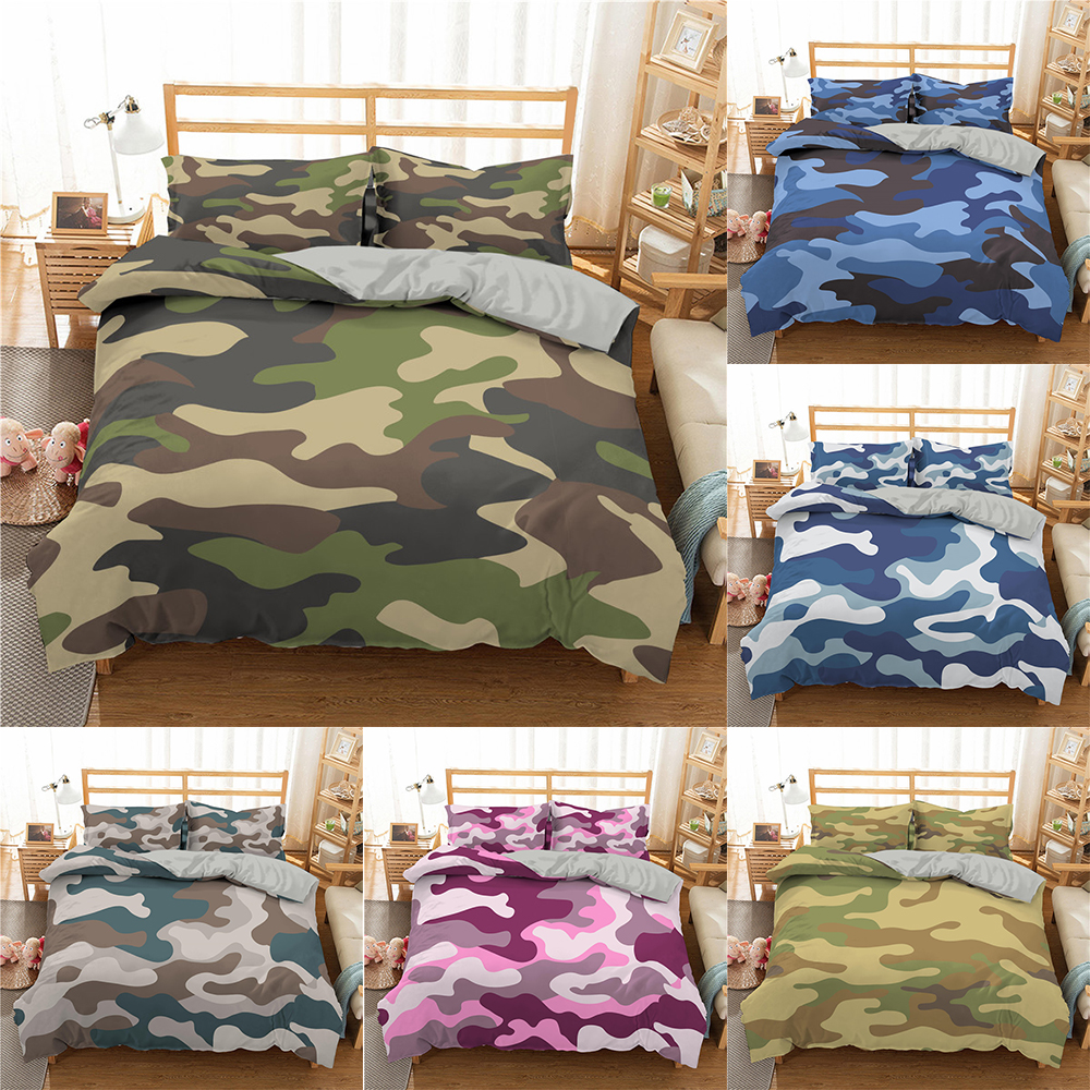 Homesky Camouflage Bedding set Boy Teen Kids Duvet Cover Set Queen King Quilt Set Abstract Bedclothes Bedroom Home textiles