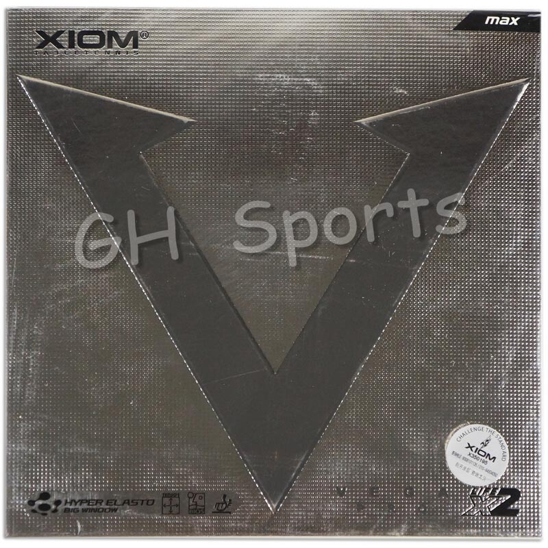XIOM VEGA PRO (Non-sticky Rubber, Loop) Table Tennis Rubber Ping Pong Sponge