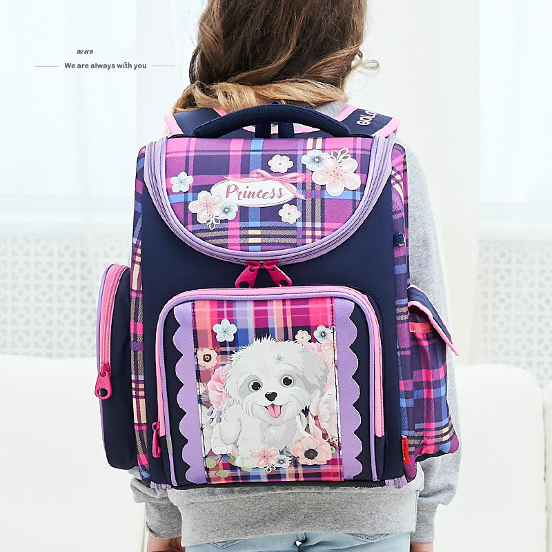 School-Bags Mochila Orthopedic Girls Waterproof Kids Cartoon Backpack for Boys Satchel