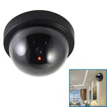 Dome simulação de alarme do assaltante câmera interna falsa webcam câmera de vigilância ao ar livre em casa led luz emular cctv para aviso
