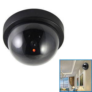 Dome Simulation Burglar Alarm Camera Indoor Fake Webcam Outdoor Surveillance Home Camera LED Light Emulate CCTV for Warning