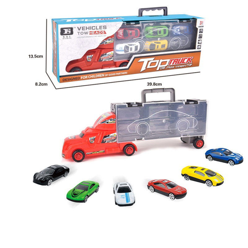 Engineering Alloy Car Model Set Hand Storage Large Container Freight Truck 6 Pieces Car CHILDREN'S Toy