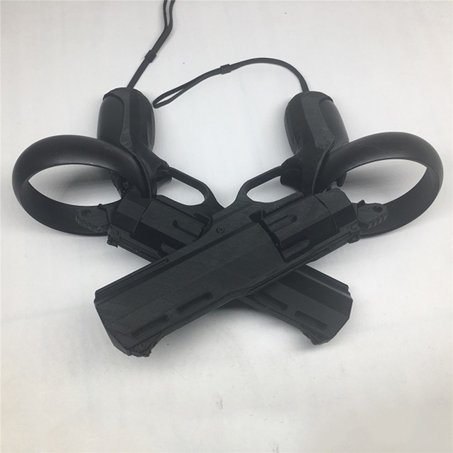 Left & Right VR Game Shooting Gun Revolver Shooting Game Model Guns for Oculus Quest / Rift S VR Controller Accessories