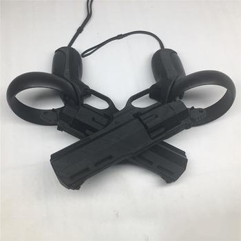 Lewy i prawy gra vr pistolet rewolwer strzelanka Model pistolety dla Oculus Quest Rift S kontroler vr akcesoria tanie i dobre opinie XBERSTAR Kontrolery for Oculus for Oculus Quest Rift S EVVG068 Left Right Game Shooting Gun (Pair) for Oculus Quest Rift S VR Controller