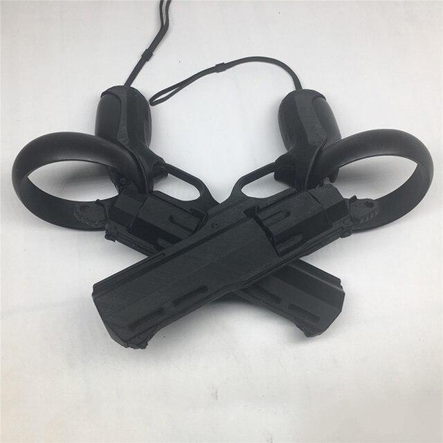 שמאל וימין VR משחק ירי אקדח אקדח ירי משחק רובי מודל צוהר Quest/קרע S VR בקר אבזרים