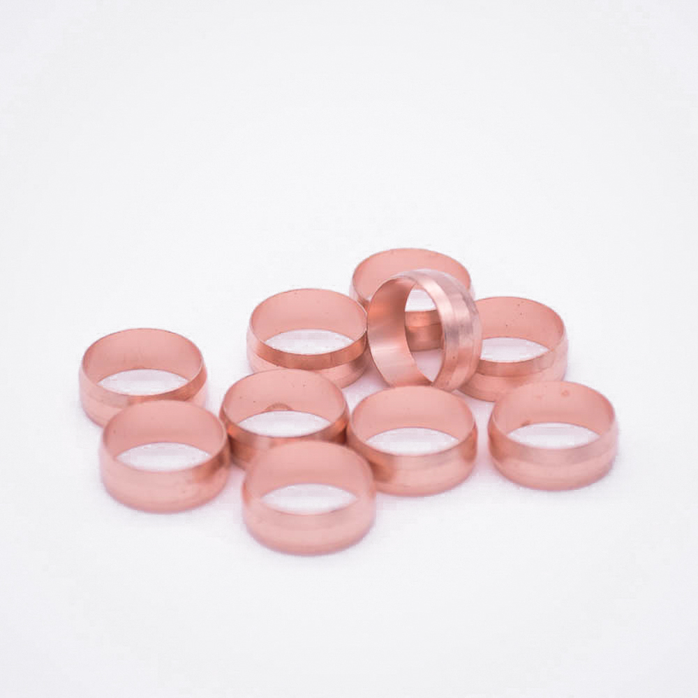 8 10 12 15 16 19 20 22 25 28mm Oil Ferrule Hole For Compression Union Fitting Water Gas Oil Assembly Sleeve Ferrule Ring Copper