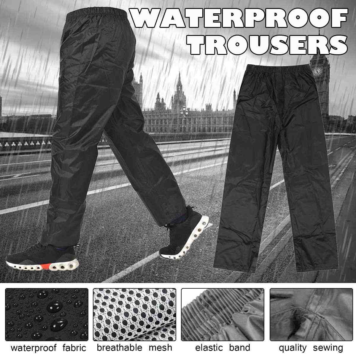 Pantalones Impermeables Para Hombre Y Mujer Impermeables Impermeables Gruesos Para Exterior Para Pesca Camping Lluvia Impermeables Aliexpress