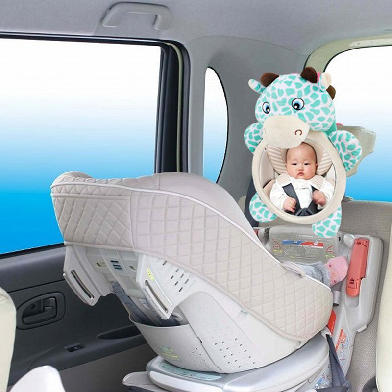 Baby Car Mirror Cartoon Car Back Seat Rear View Facing Headrest Mount Child Kids Infant Baby Safety Monitor Accessories