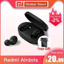 Xiaomi Redmi Airdots TWS Bluetooth 5,0 Kopfhörer Stereo Wireless bass Geräuschunterdrückung Mit Mic Freihändiger Ohrhörer AI Control