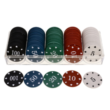 Poker-Chips Game-Accessories European Professional 100pcs Printed Double-Side