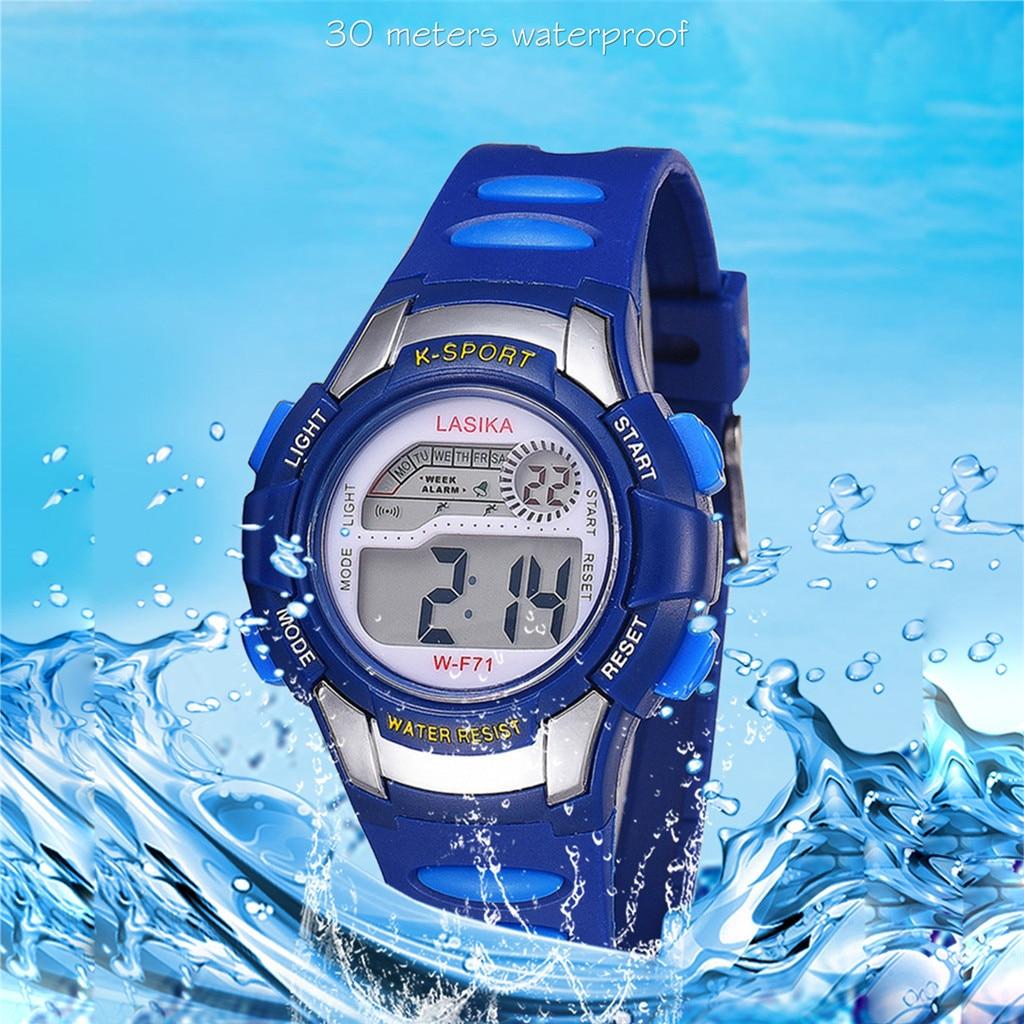 Горячие часы водонепроницаемые часы детские часы брендовые наручные часы Дети мальчики девочки студенты цифровой электронный дисплей