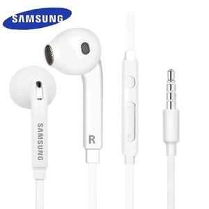Image 1 - Samsung Original EO EG920 S6 Earphone In ear With control Speaker Wired 3.5mm headsets With Mic 1.2m In ear Sport Earphones