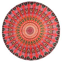 New Sale Round Mat Scarve Mandala Tapestry Beach Picnic Throw Rug Blanket Bohemia Grassplot Mats(China)