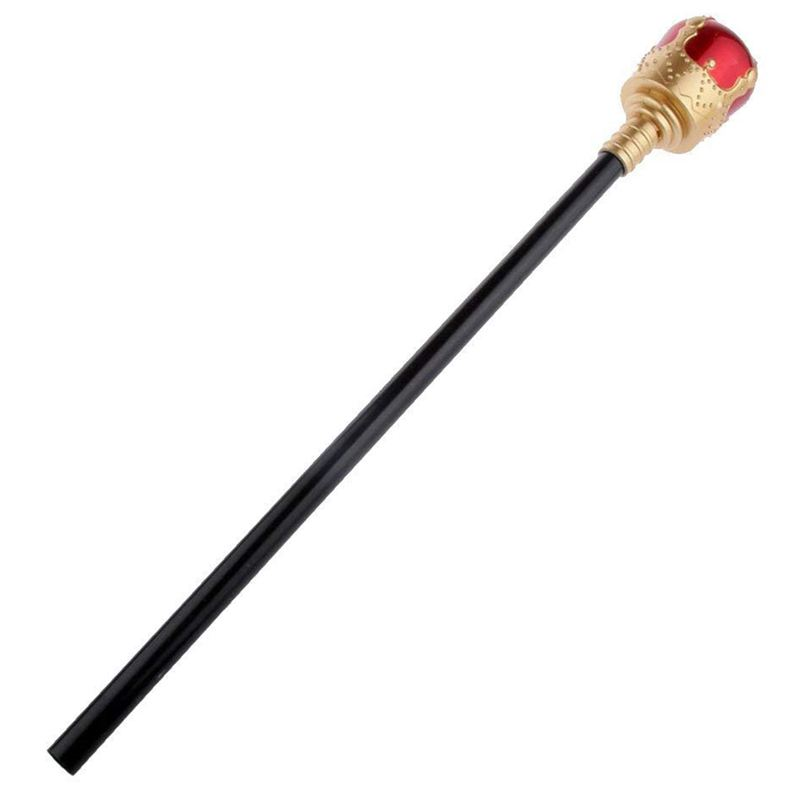 40 Cm Royal Medieval Queen King Prince Costume Scepter Accessory For Cosplay Costume - Red, Gold, 40cm Birthday