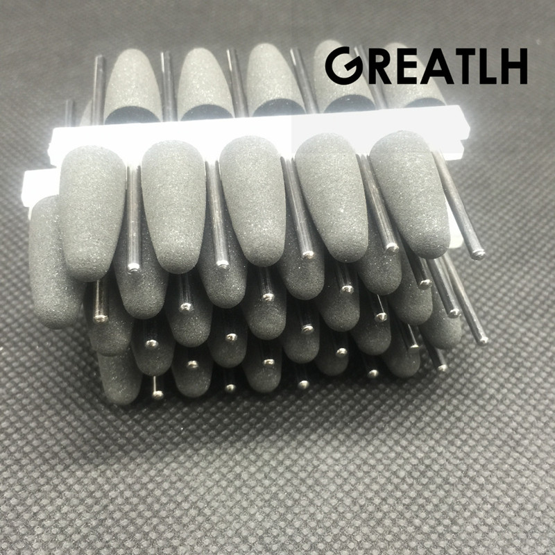 50pcs SILICONE Rubber Polishers Diamond Polishing Burs 2.35mm