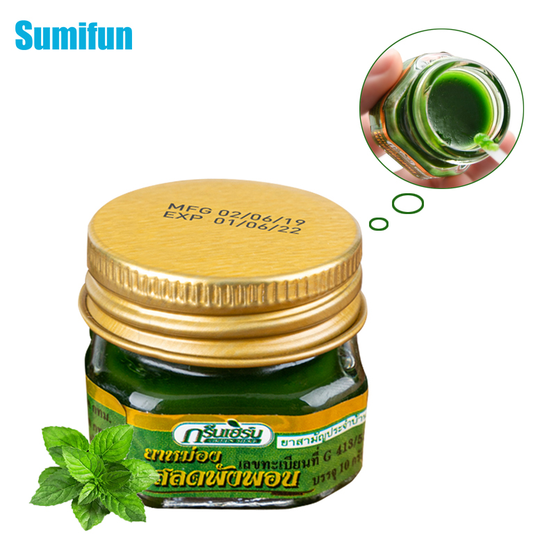 1Pcs 100% Original Herbal Cool Cream Pain Relief Ointment For Cold Headache Dizziness Muscle Rub Aches Oil Medical Plaster P0043