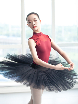 Sexy Dance Leotards One-piece Dance Practice Clothes Women Lace Gymnastics Dancing Costume Adult High Collar Ballet Leotard 2