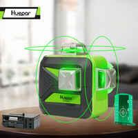Huepar 12 линий 3D лазерный уровень самонивелирующийся 360 градусов горизонтальный и вертикальный крест мощный открытый может использовать дете...