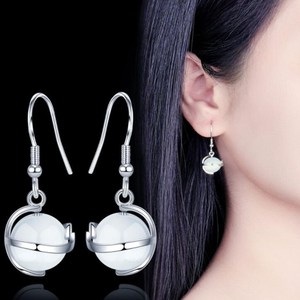 NEHZY 925 Sterling Silver New Woman Fashion Jewelry High Quality Retro Simple Opal Long Tassel Rotating Earrings