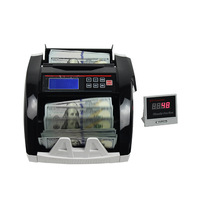 Dollar Thai Baht Dubai foreign currency money counter currency detector with LCD display fake money bills counter money machine