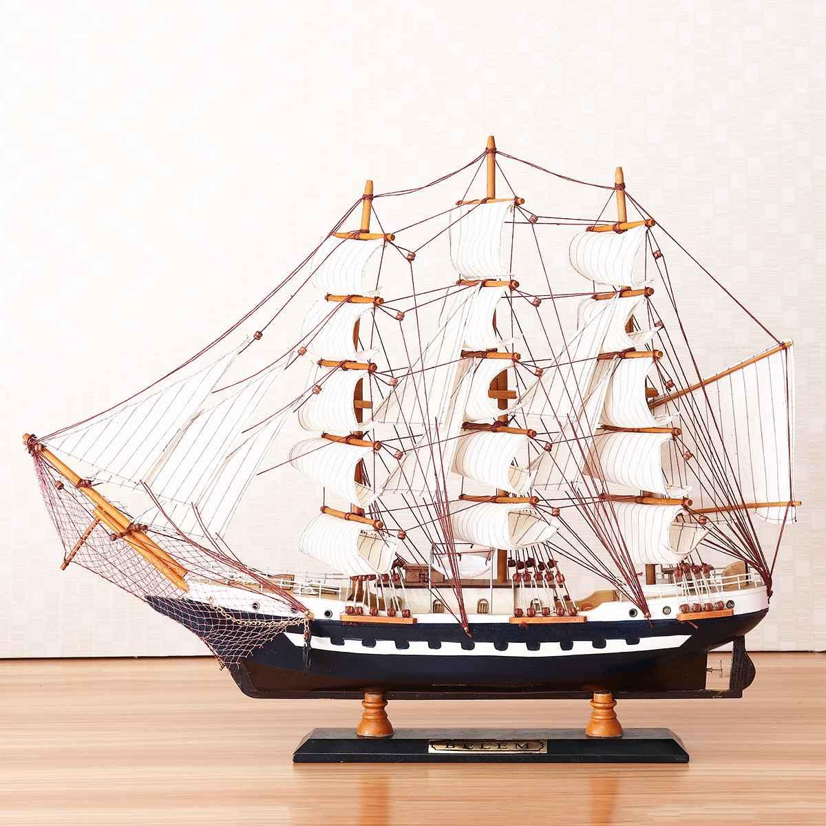 65cm Houten Zeilboot Model Zeilschip Display Schaal Boot Decoratie Gift Kits Montage Model Building Kits Geschenken Decoratie