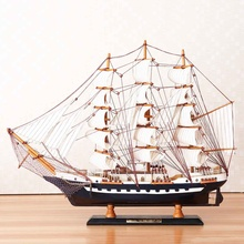 65cm Wooden Sailboat Model Sailing Ship Display Scale Boat D