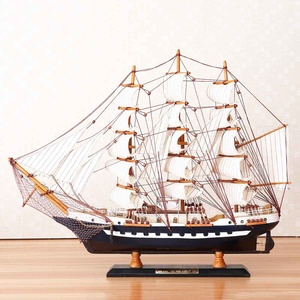 65cm Wooden Sailboat Model Sai
