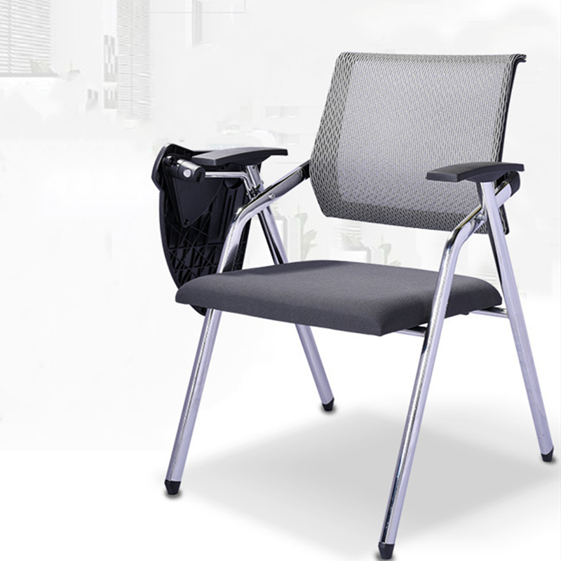 Mesh Training Chair With Writing Board Office Chair Comfortable Plastic Steel Folding Meeting At The Source
