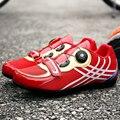 Мужская s Wo Мужская велосипедная обувь Профессиональная велосипедная обувь для верховой езды красный зеленый легкая спортивная гоночная о...