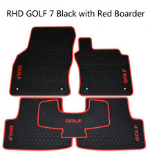 цена на Special No Odor Carpets Waterproof Rubber Car Floor Mats for Right Hand Drive RHD Volkswagen Golf 5 6 7 POLO 5 GTI 6GTI 7GTI