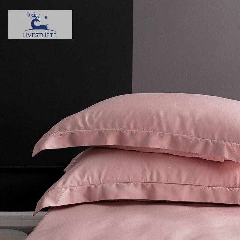 Liv-Esthete 25 Momme 100% Nature Mulberry Satin Pink Silk Pillowcase Healthy Skin Silky Pillow Case For Women Men Sleeping