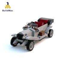 Buildmoc técnica criador especialista série mini carro desportivo carros conversíveis blocos de construção modelo tijolos clássico para crianças brinquedos