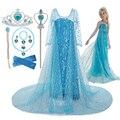 2021 neue Elsa Kleid Mädchen Sommer Kleid Prinzessin Cosplay Kostüm Kleider Für Kinder Weihnachten Geburtstag Phantasie Party Vestidos Menina