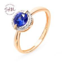Skm vinatge сапфировое кольцо с бриллиантами кольца для женщин
