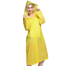 2019  New Fashion Eva Raincoat Waterproof Transparent Camping for women