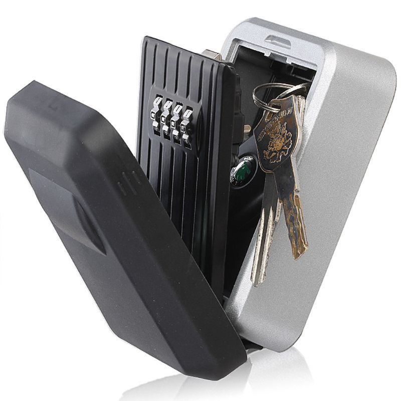 Wall Mounted 4 Digit Outdoor High Security Key Safe Box Code Secure Lock Storage