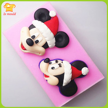 Cartoon double sugar silicone mold mickey head series Handmade chocolate mould cake decoration