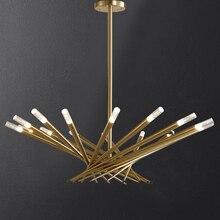 Pós moderno ninho de pássaro led lustre iluminação ouro ou preto g9 luxo pendurado lâmpada para sala de jantar lustres casa deco