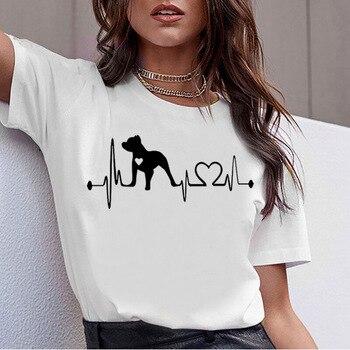 Shirts Women 2020 Dachshund Pug French Bulldog Funny T Shirt Harajuku Cute Dog Printed Tee Top