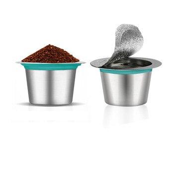 Cápsula de café reutilizable de acero inoxidable Nespresso, cápsula rellenable, filtro de taza de repuesto, cápsula para máquina Nespresso sin tapa