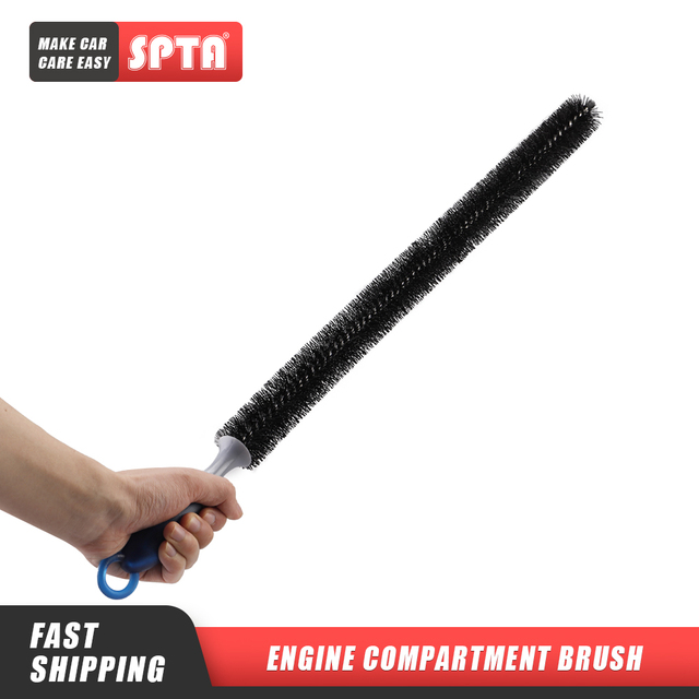 SPTA  Automobile Engine Cleaning Brush Extended Cabin Cleaning Tool Multifunctional Automobile Engine Cleaning Brush Hub Brush