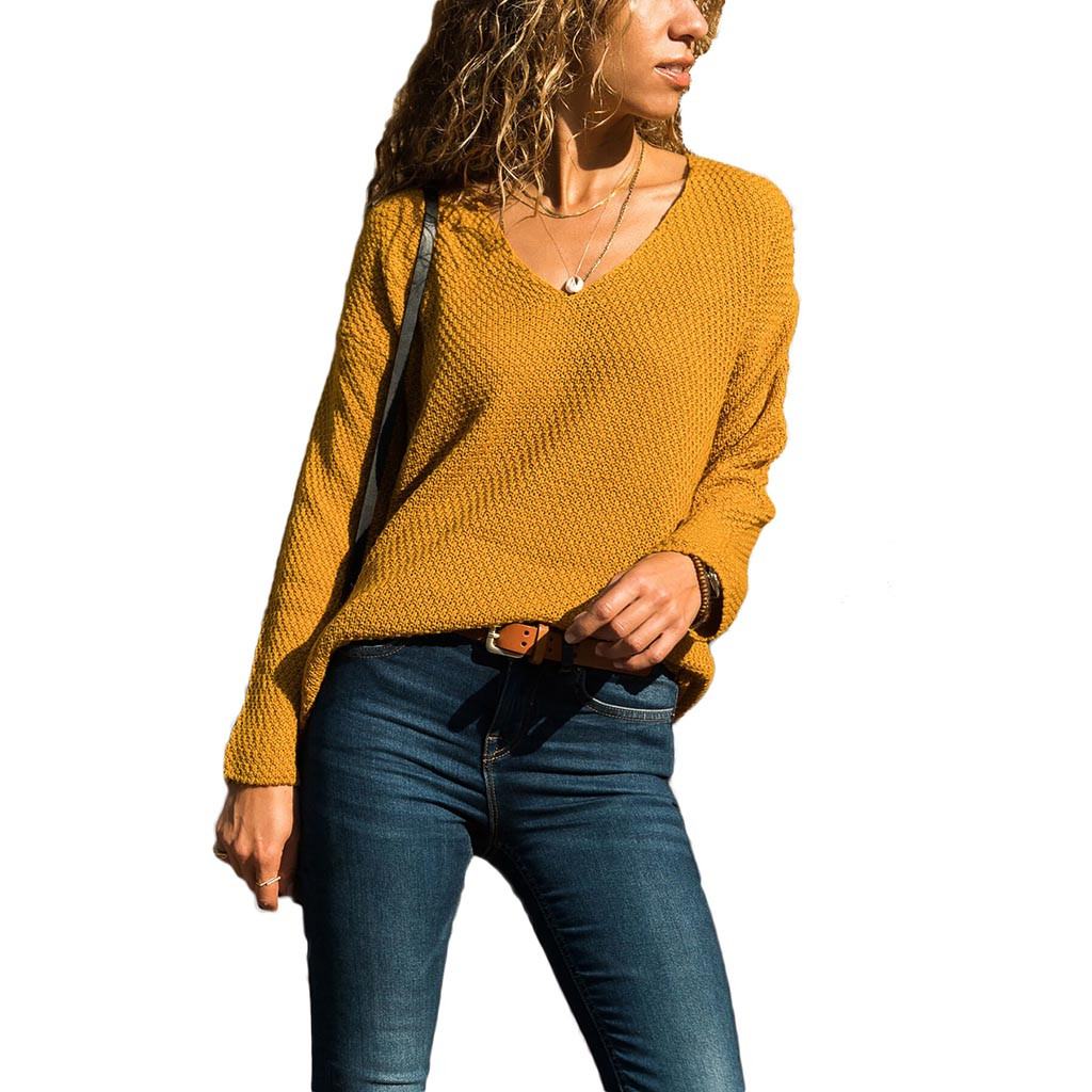 Spring Autumn V Neck Pullovers Women Slim Basic Sweater Solid Color Jumpers Female Women Sweater Cashmere Turtleneck 9.24