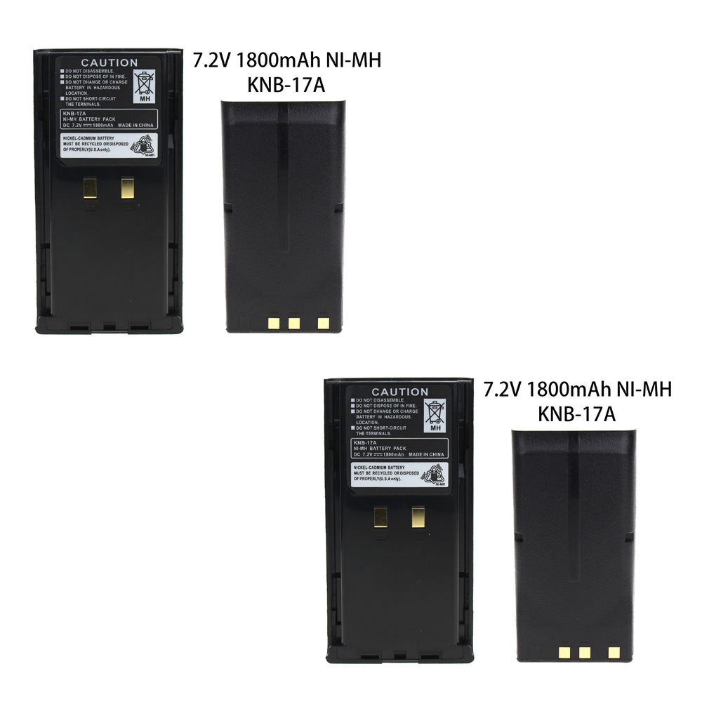 2X Replacement KNB-17A KNB-21N Battery(s) For Kenwood TK-280 TK-380 TK-480 Radio