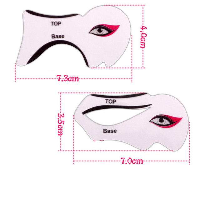 2pcs/lot Eyeliner Stencil Kit Model for Eyebrows guide template Shaping Maquiagem eye shadow frames card makeup Eye Brow tools 1