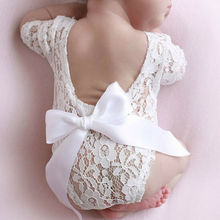 2020 Newborn Baby Photography Photo Prop White Lace Girl Baby