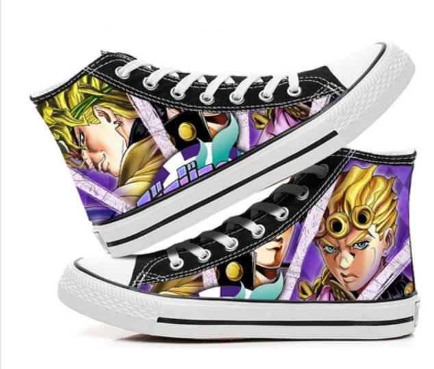 JoJo's Bizarre Adventure  cos shoes canvas shoes anime cartoon students high help cosp casual comfortable men and women college 4